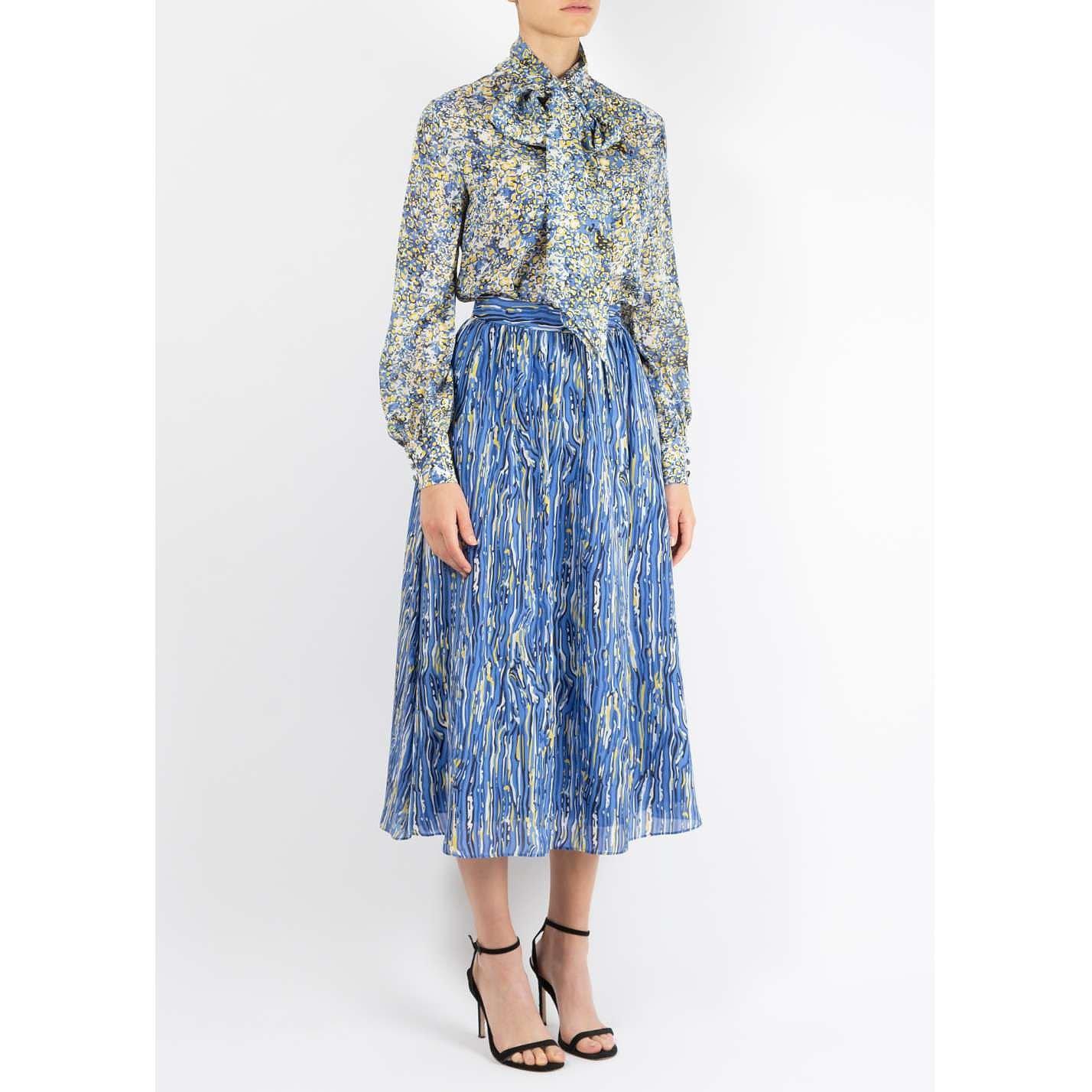 Dhela Printed Silk Skirt