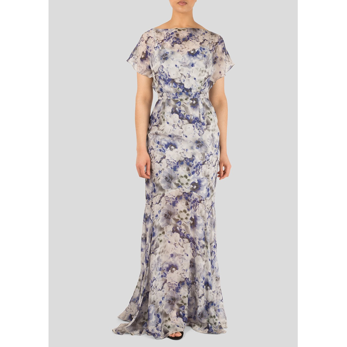 Beulah Floral Silk Gown
