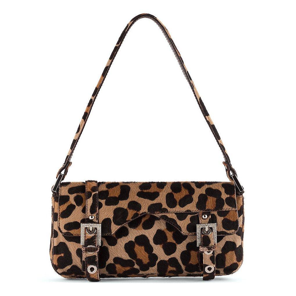 DOLCE & GABBANA Leopard Print Baguette Bag