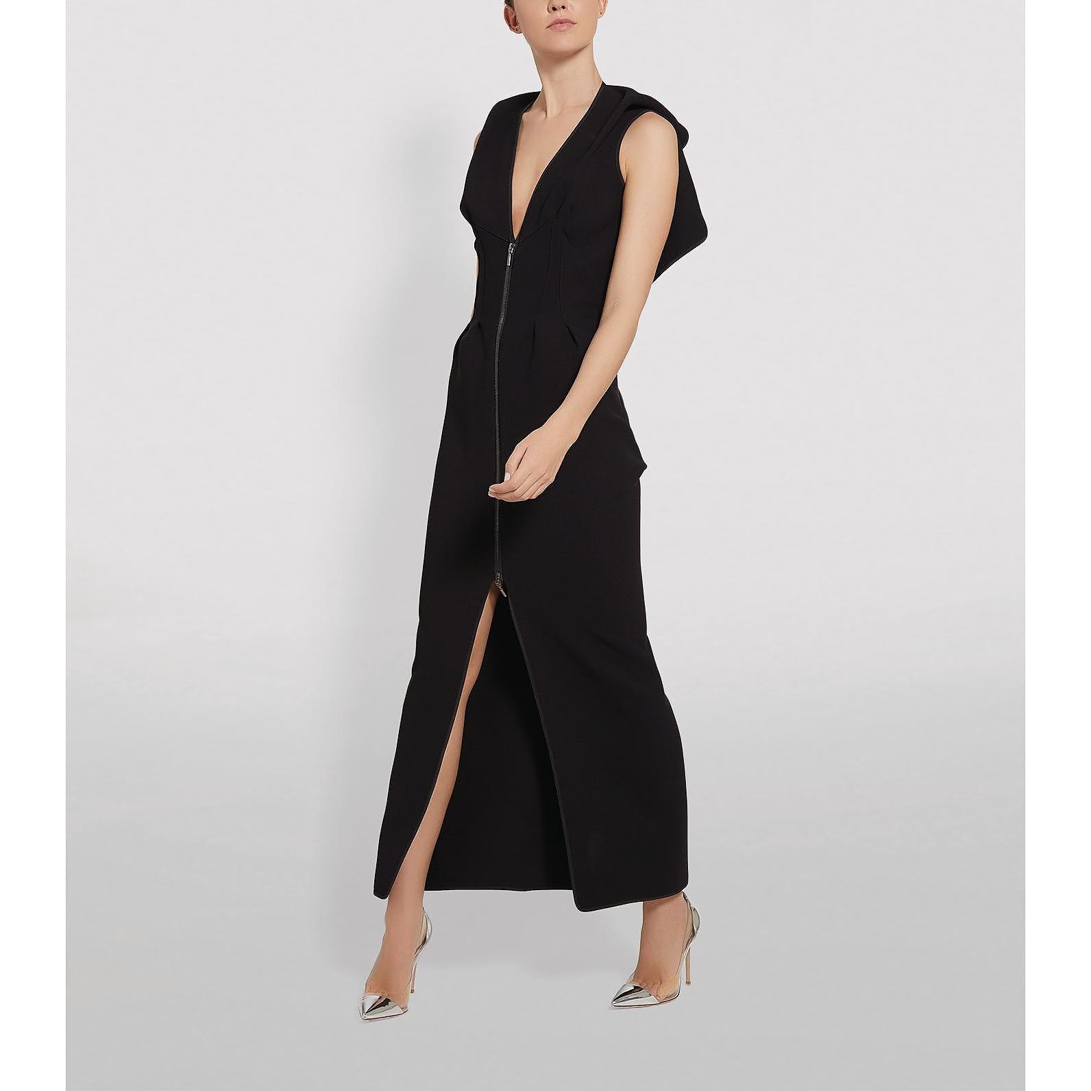 Maticevski Insecta Zip-Front Midi Dress