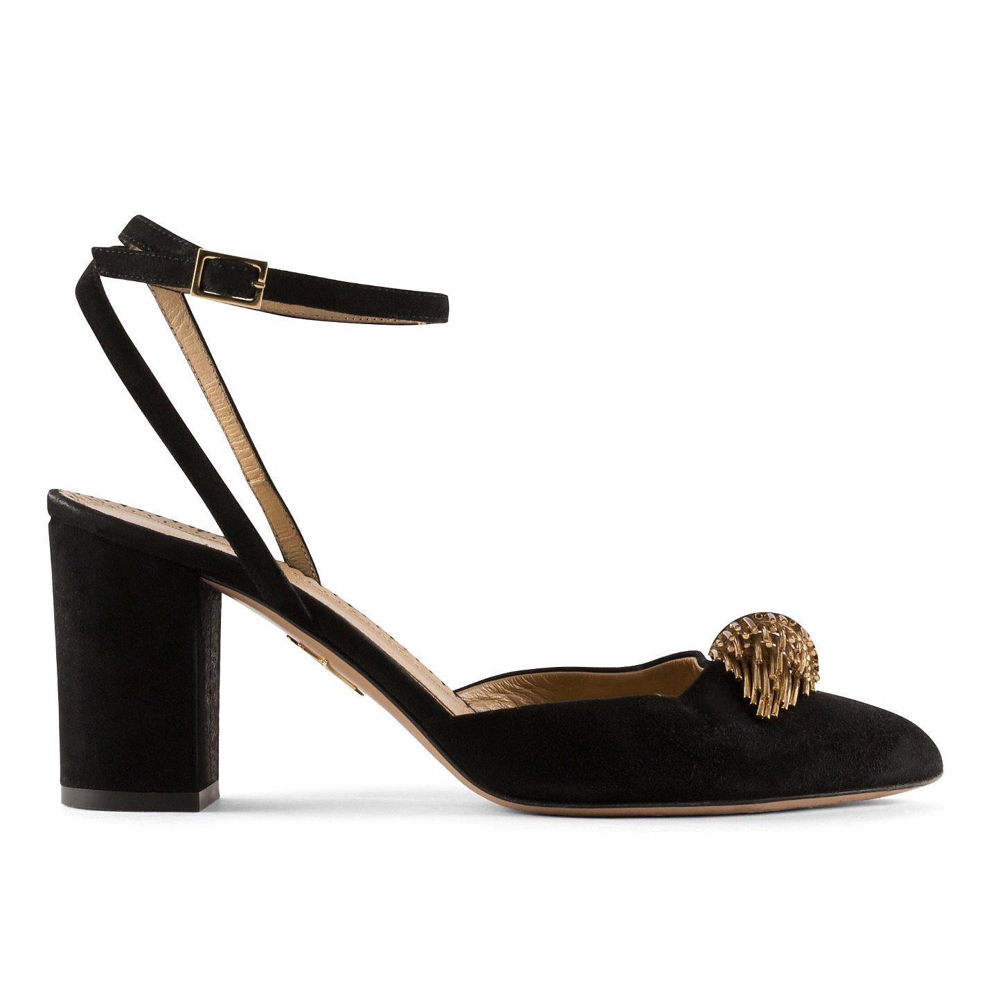Charlotte Olympia Embellished Block-Heel Pumps