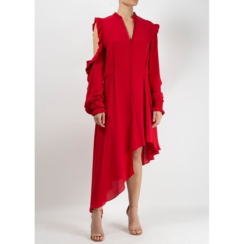 Magda Butrym Frilled Silk Dress
