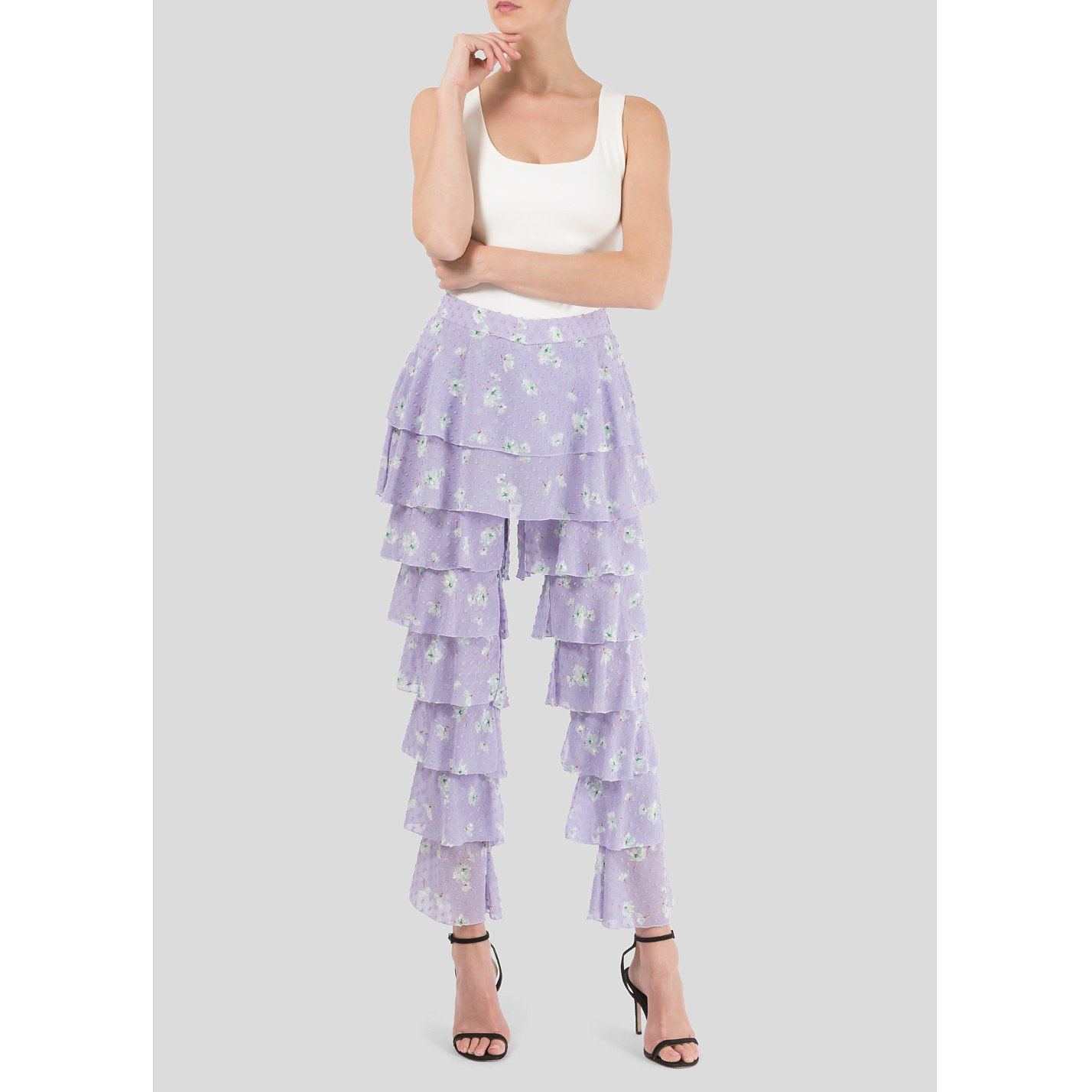 Starsica Printed Frill Trousers