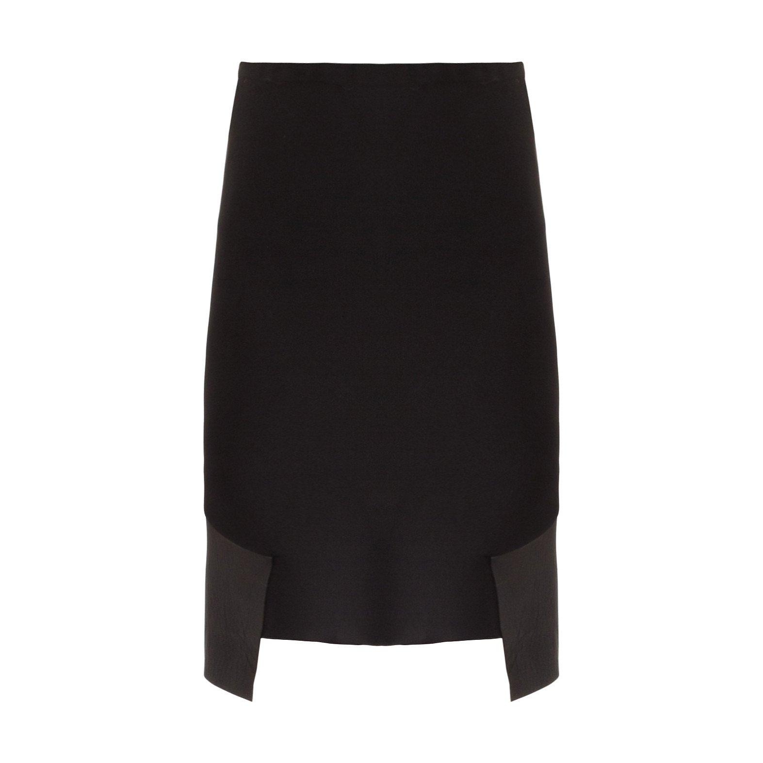 Dion Lee Leather-Trimmed Skirt