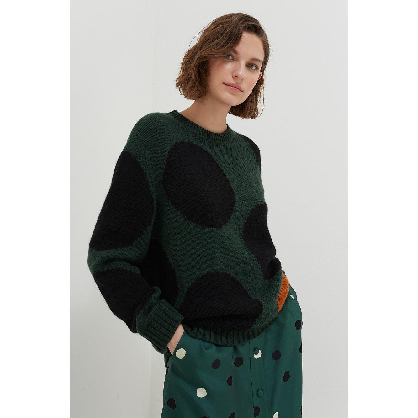 Chinti and Parker Dot Wool-Cashmere Sweater