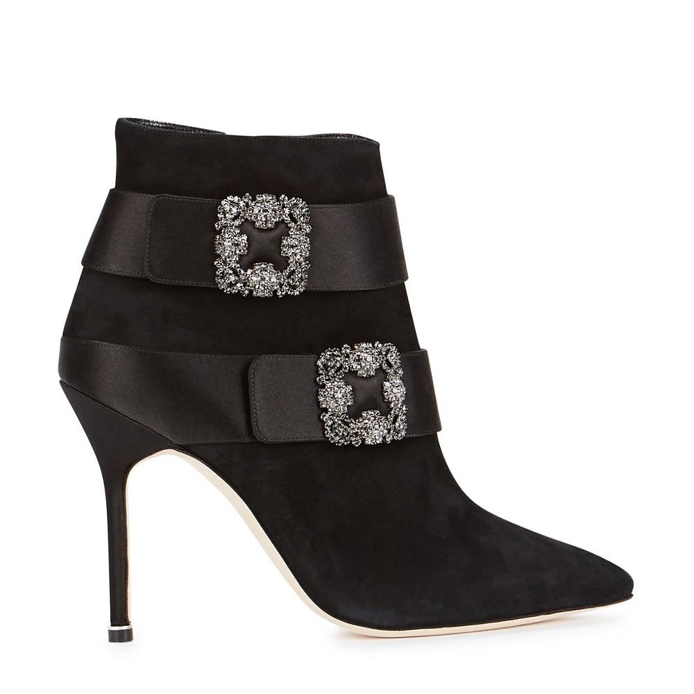 Manolo Blahnik Plinia Ankle Boots
