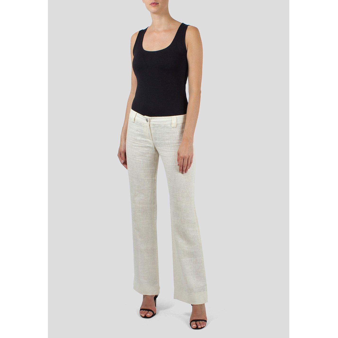 DOLCE & GABBANA Linen Bootleg Trousers