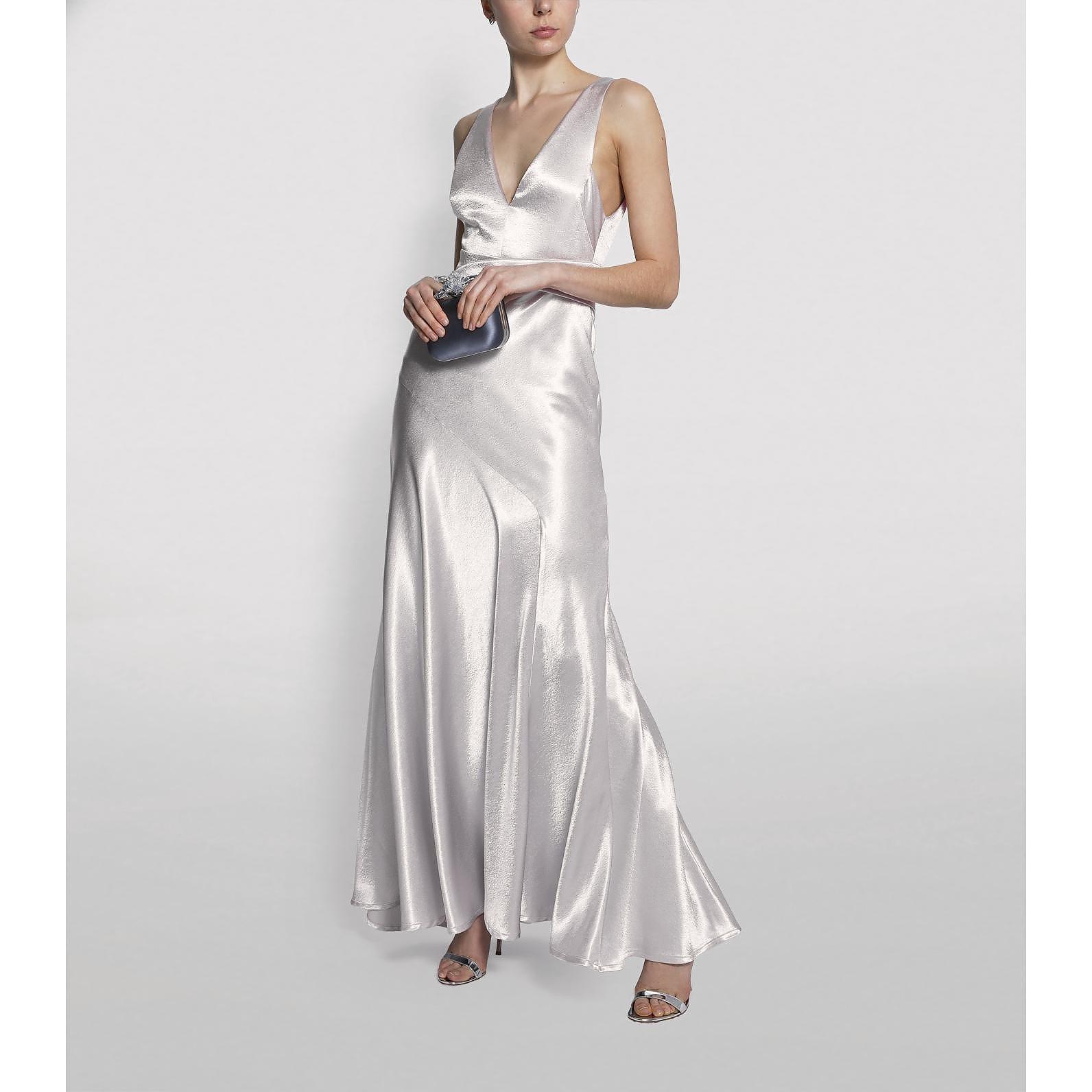 Galvan London Bella Satin Evening Gown