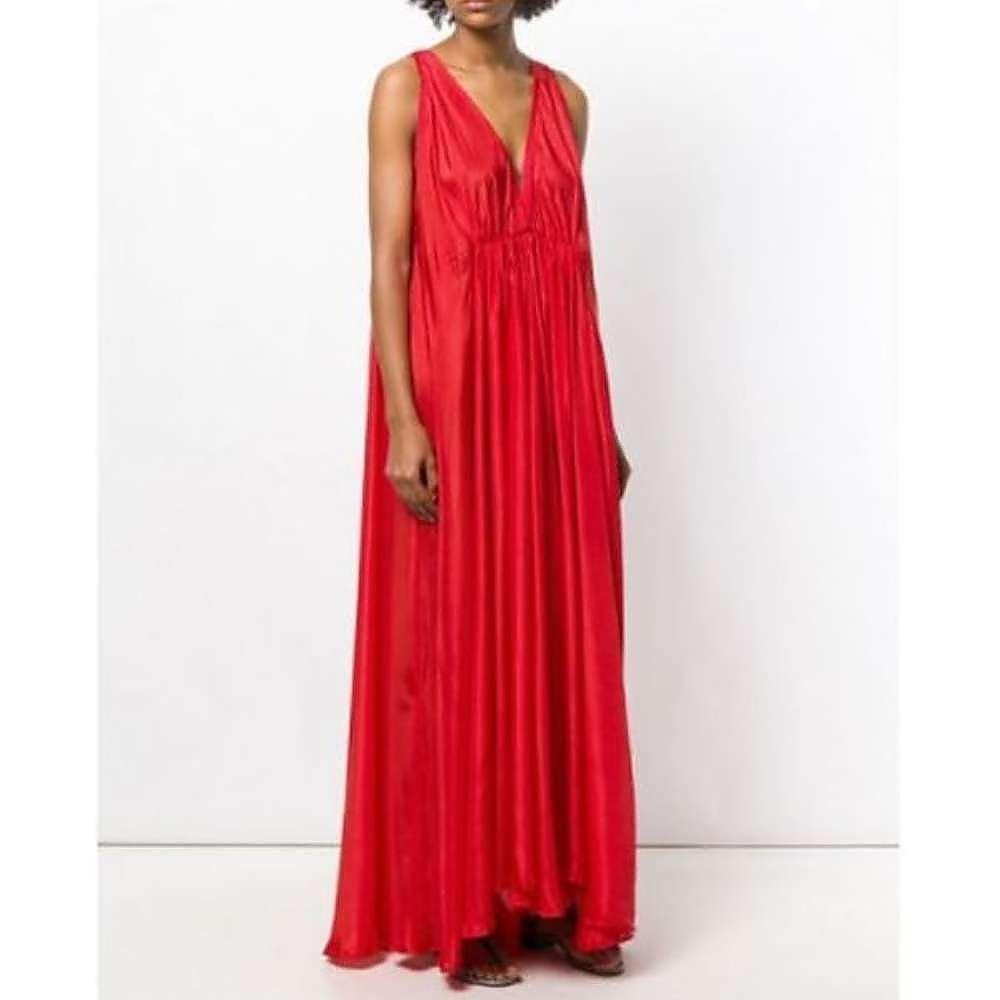Kalita Clemence Maxi Dress in Flamingo