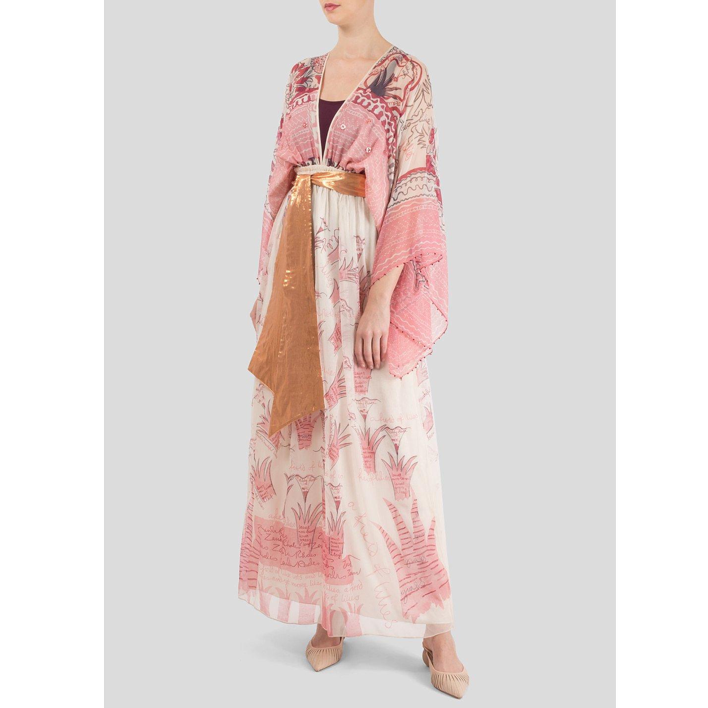 Zandra Rhodes Silk-Chiffon Pearl Maxi Dress