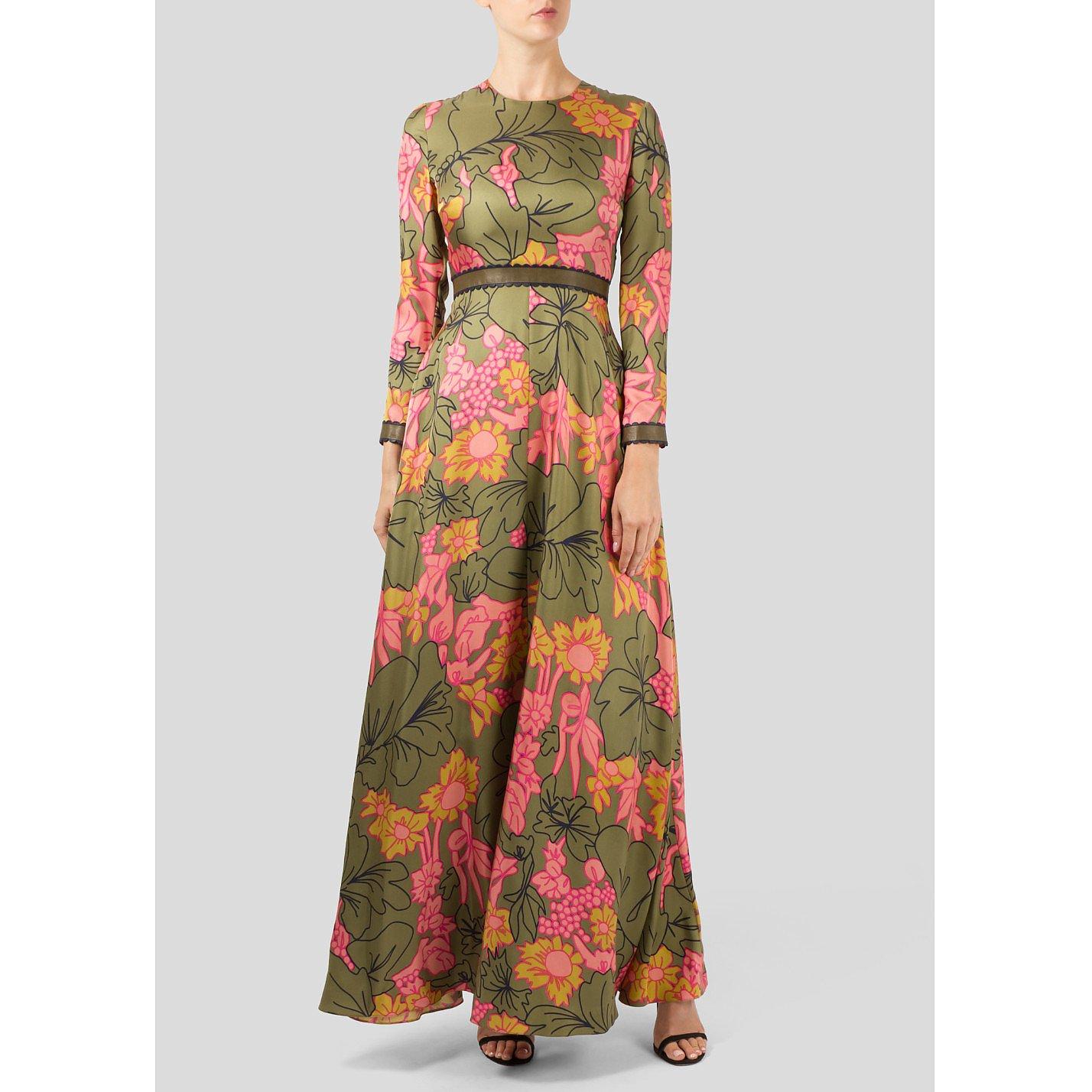 Roksanda Floral Print Silk Dress