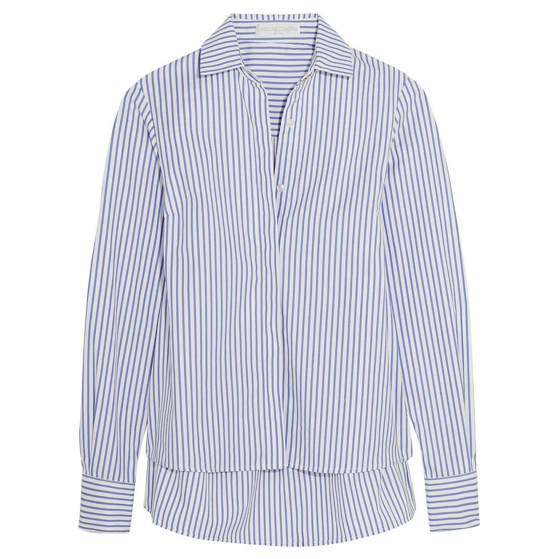 Caroline Constas Claire Striped Cotton Shirt