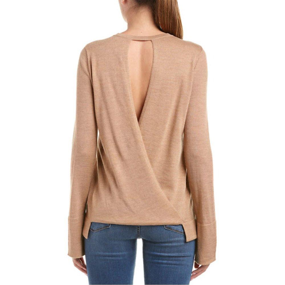 BCBGMAXAZRIA Open Back Sweater