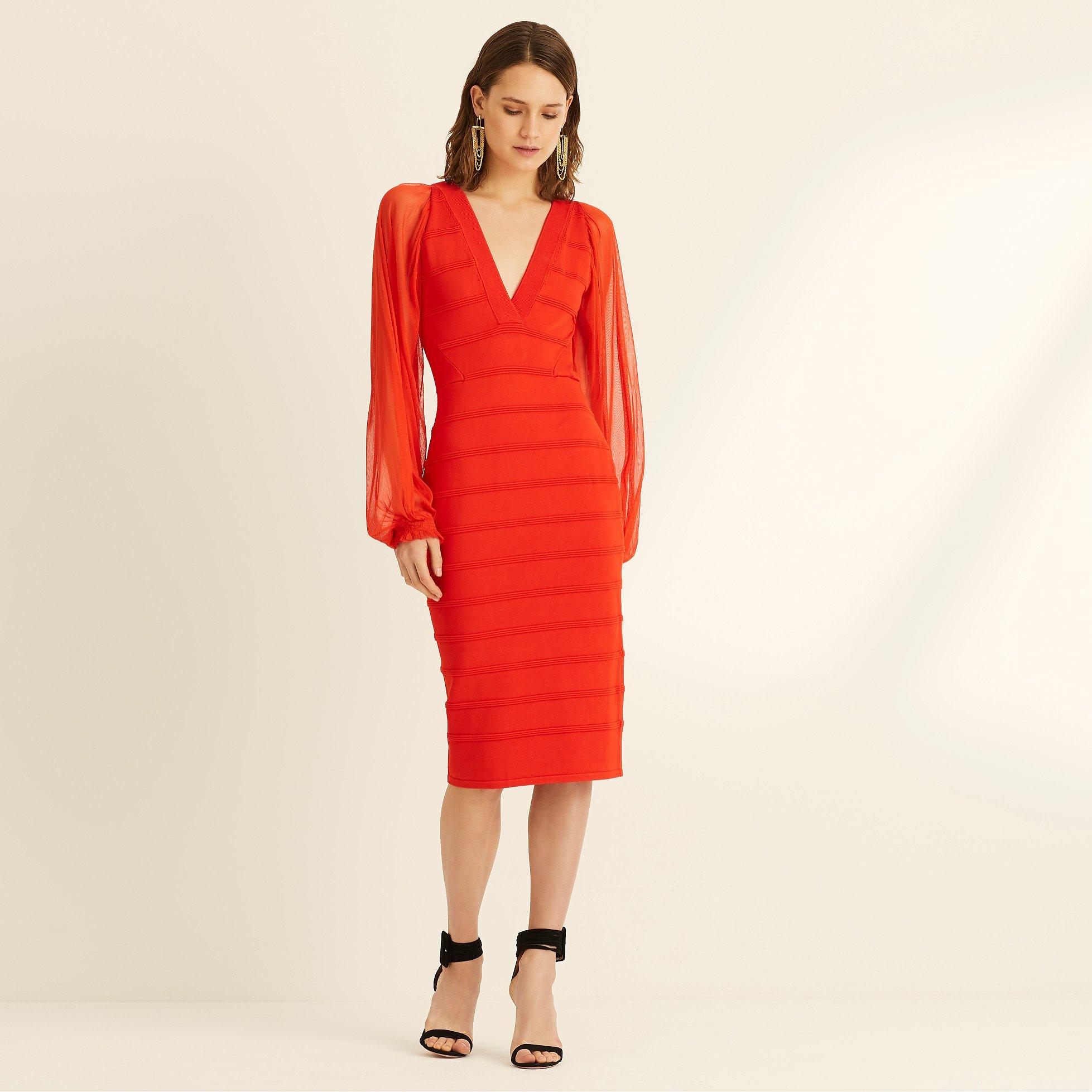 Amanda Wakeley Viscose Knitted V-Neck Dress