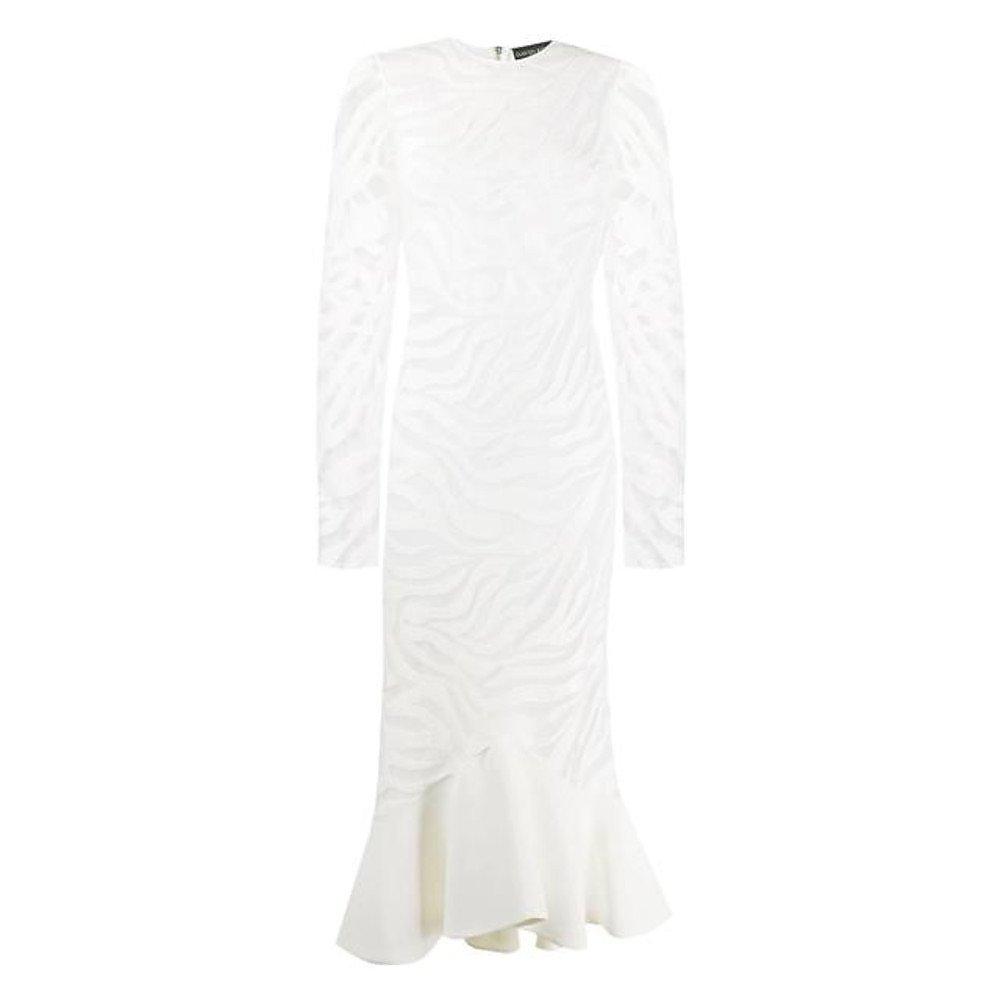 David Koma Sheer Zebra Midi Dress