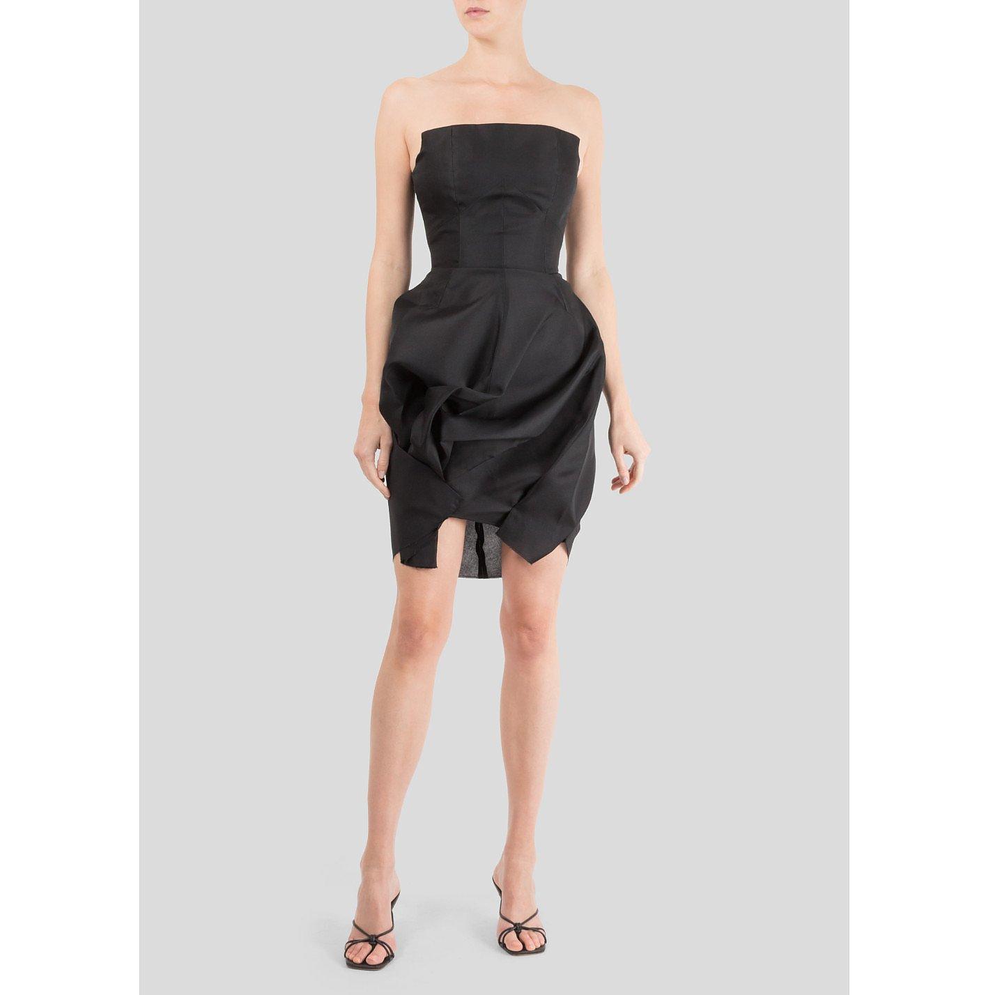 Victoria Beckham Twist Drape Corset Cocktail Dress
