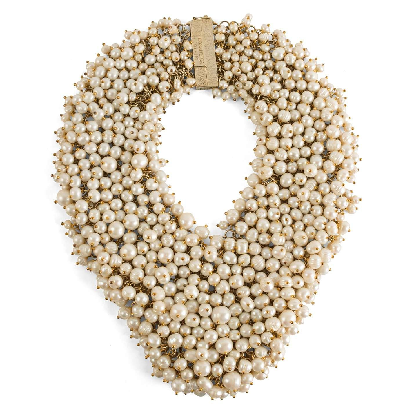 Rosantica Pearl and Chain Collar Necklace