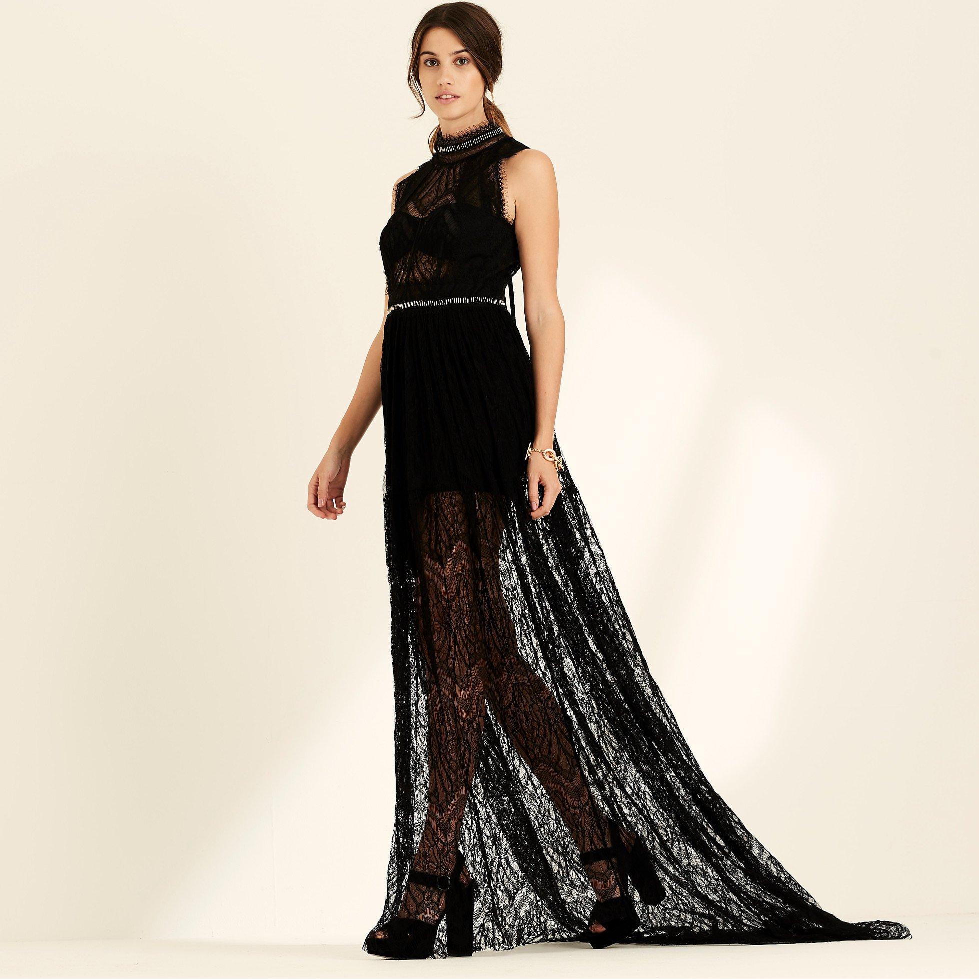 Amanda Wakeley Sleeveless Lace Gown