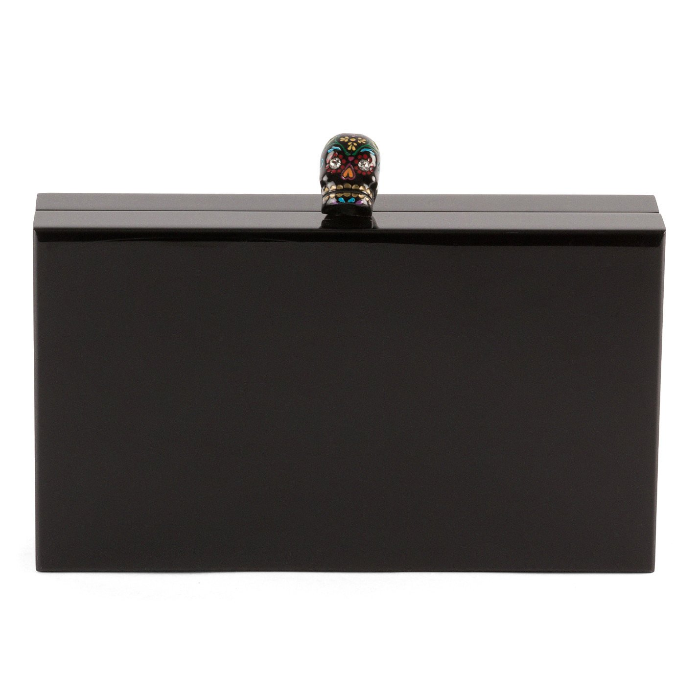 Charlotte Olympia Skull-Detail Box Clutch