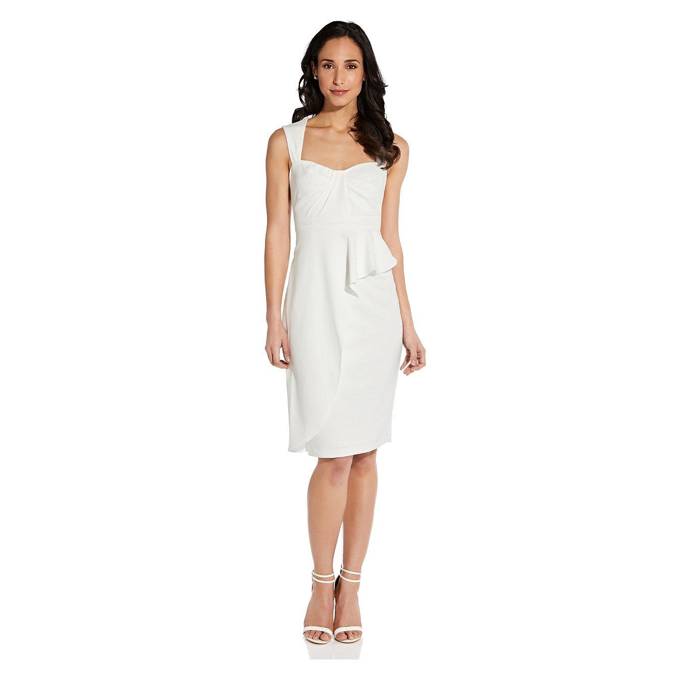 Adrianna Papell Draped Crepe Sheath Dress