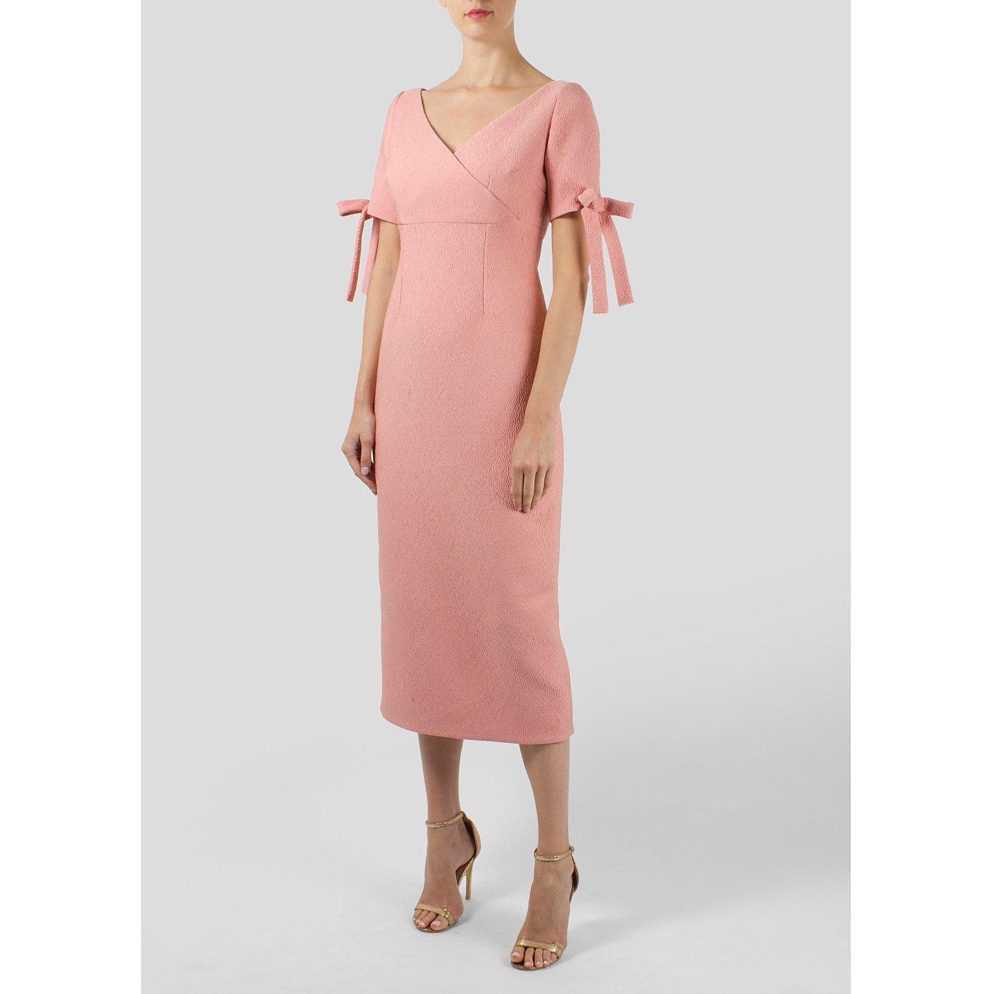 Emilia Wickstead Bow Detail Midi Dress
