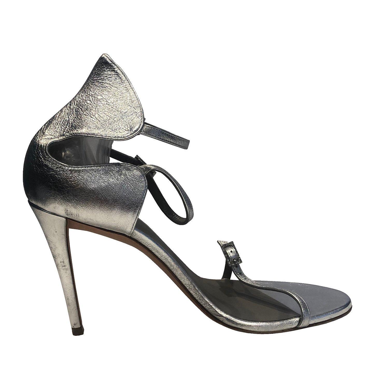 Gina Silver Heels