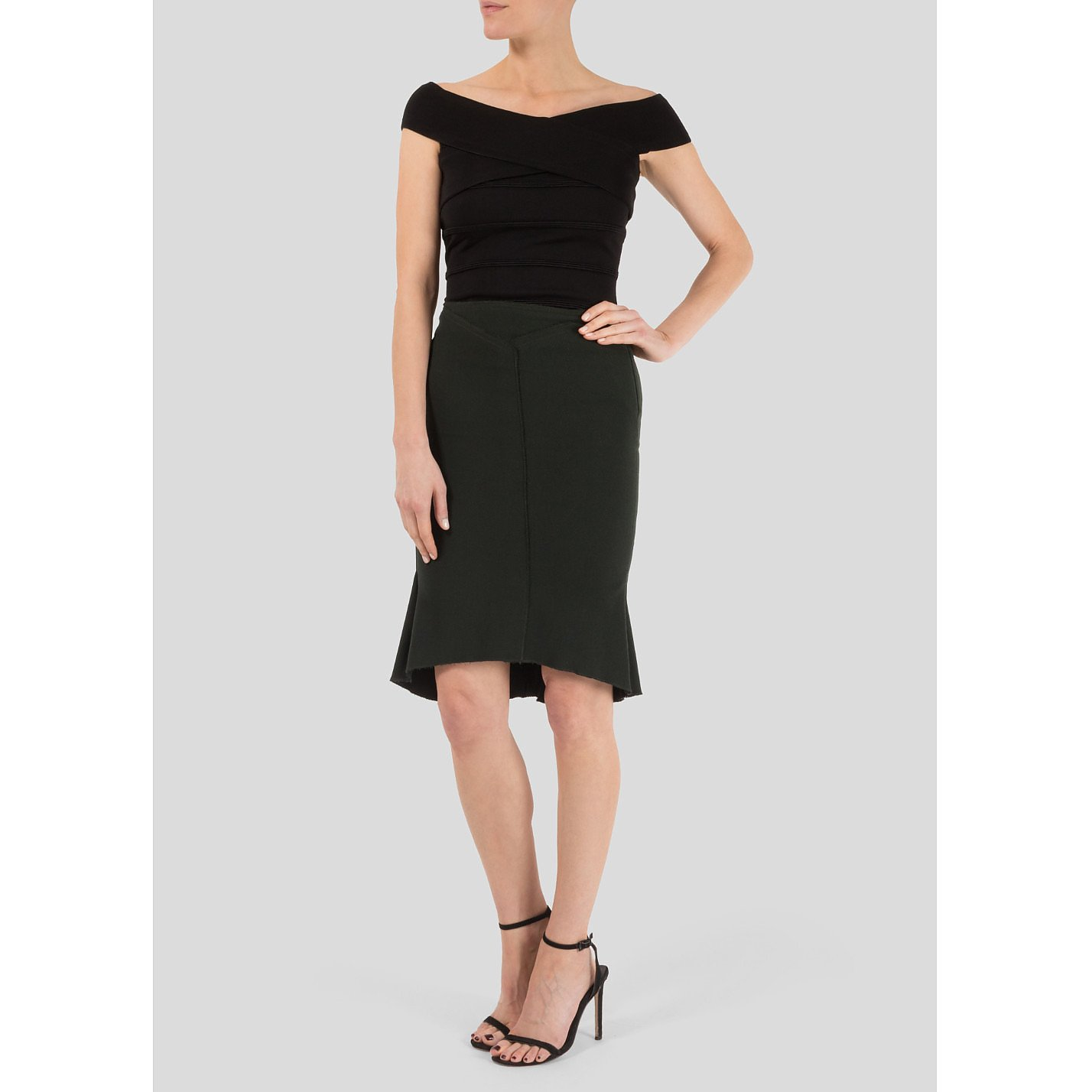 Roland Mouret Structured Wool Pencil Skirt