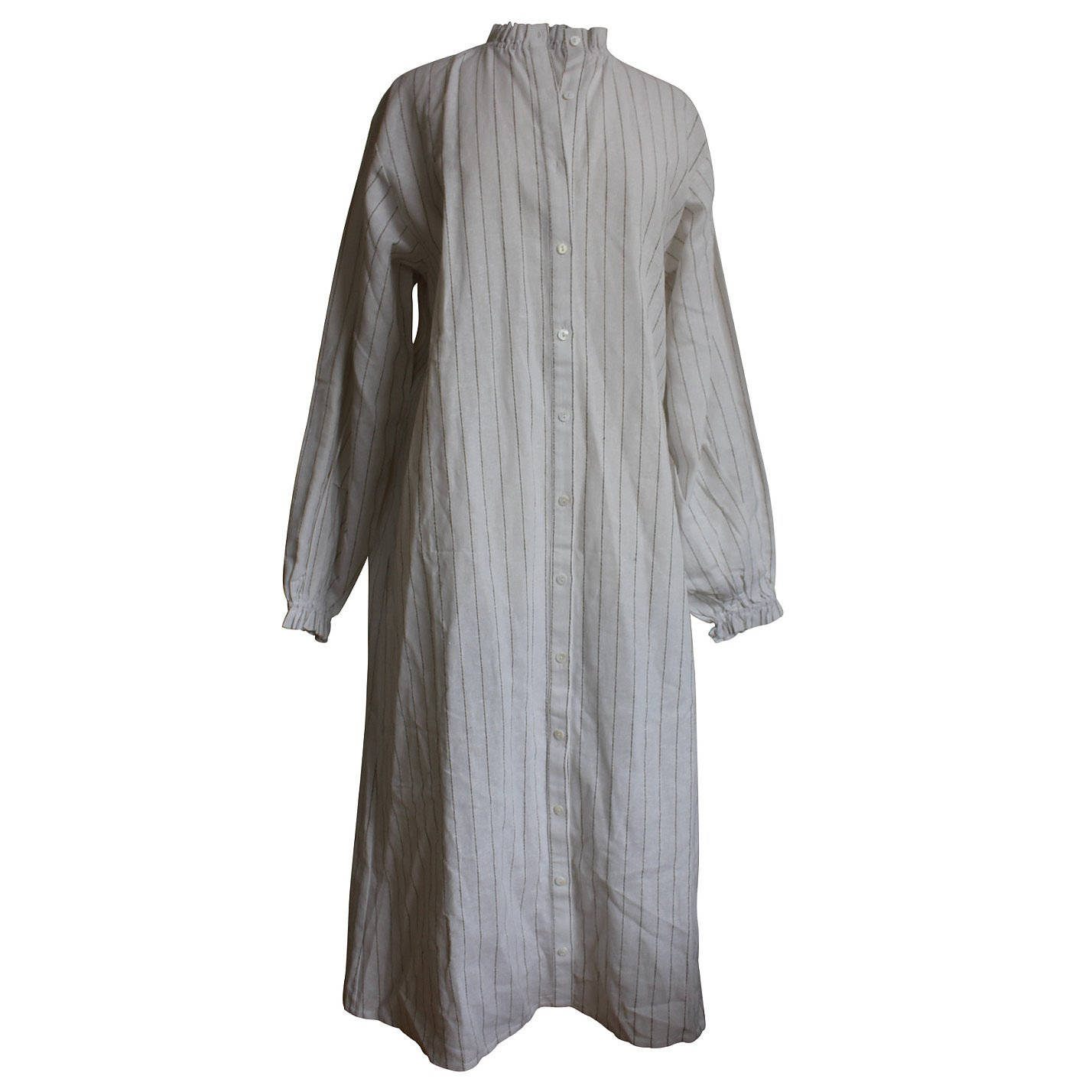 Boutique Ruffled Striped Shirt Dress