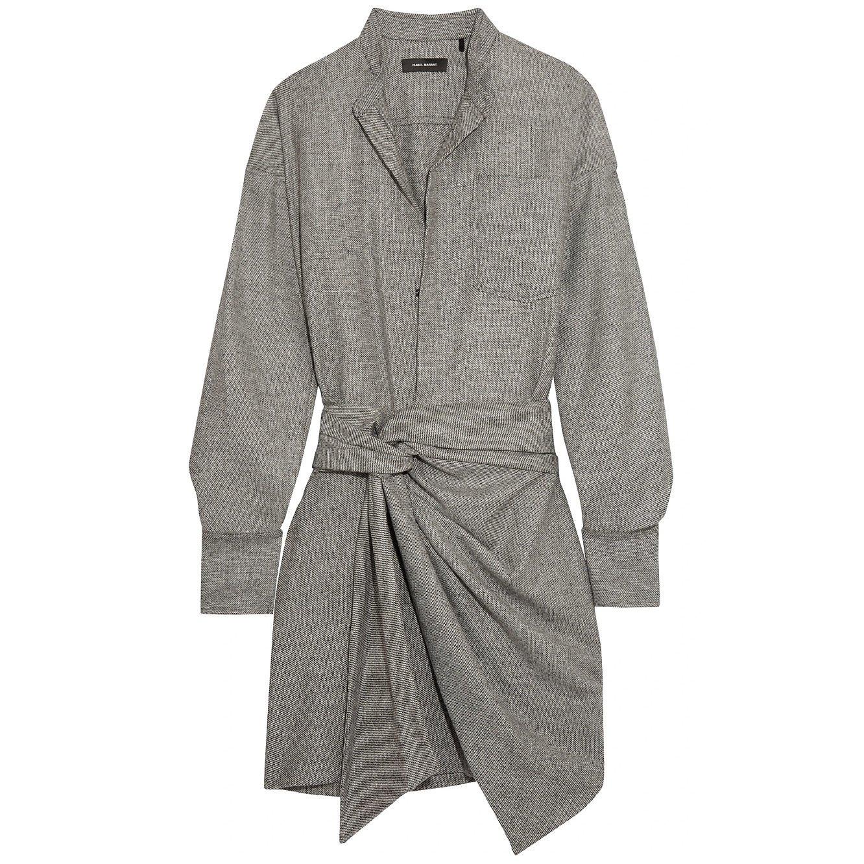 Isabel Marant Khol Wrap-Effect Woven Mini Dress