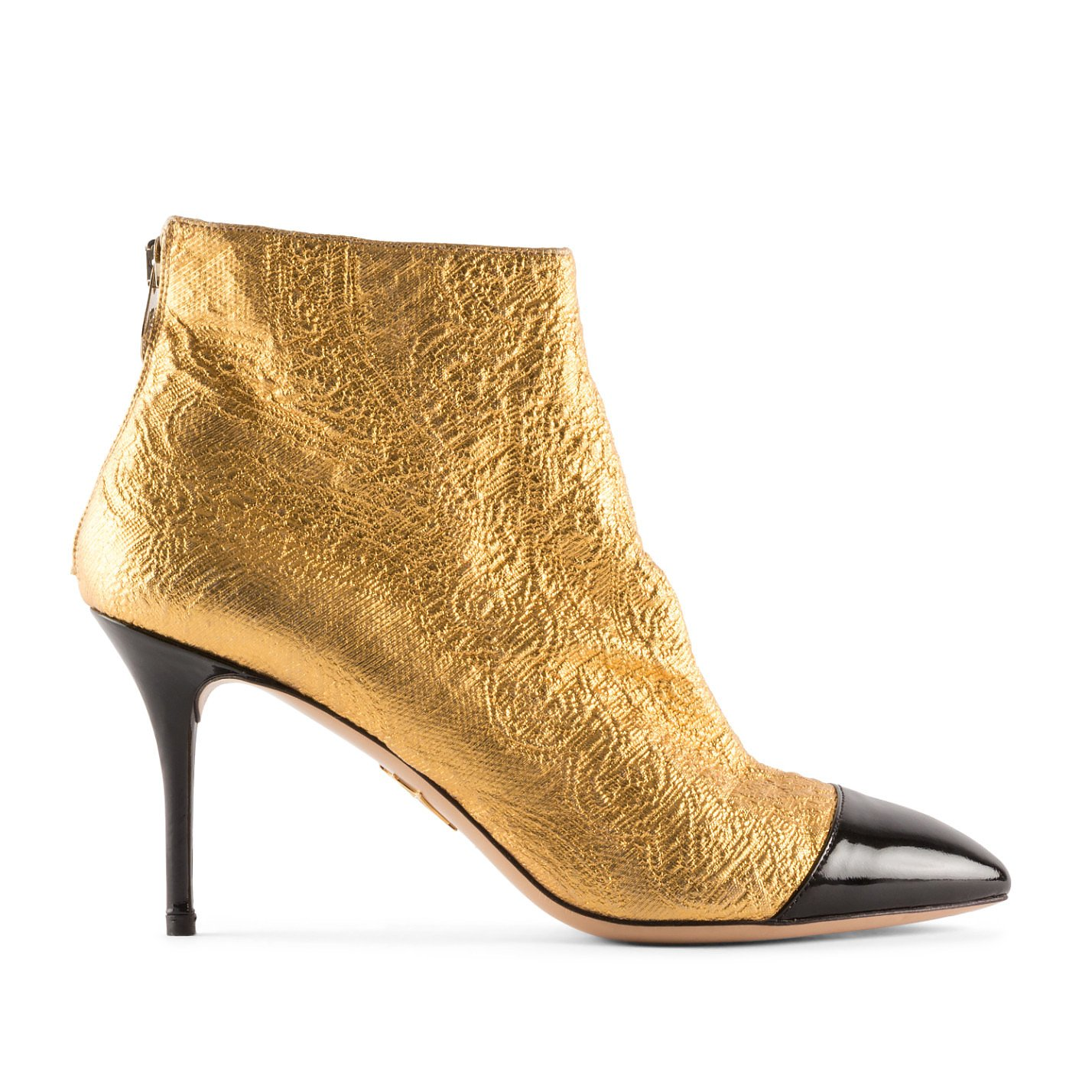 Charlotte Olympia Metallic Heeled Ankle Boots