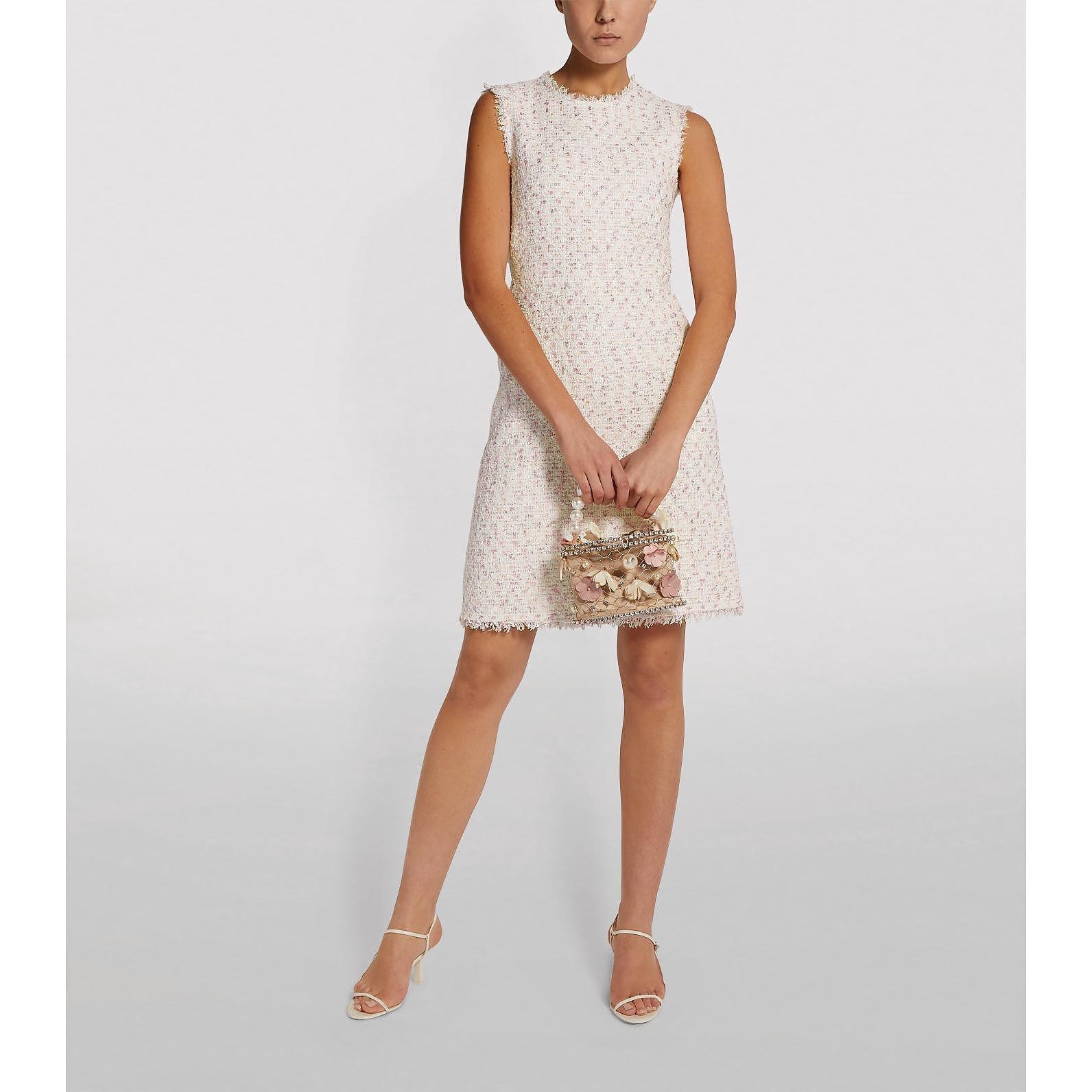 Giambattista Valli Sleeveless Bouclé Mini Dress