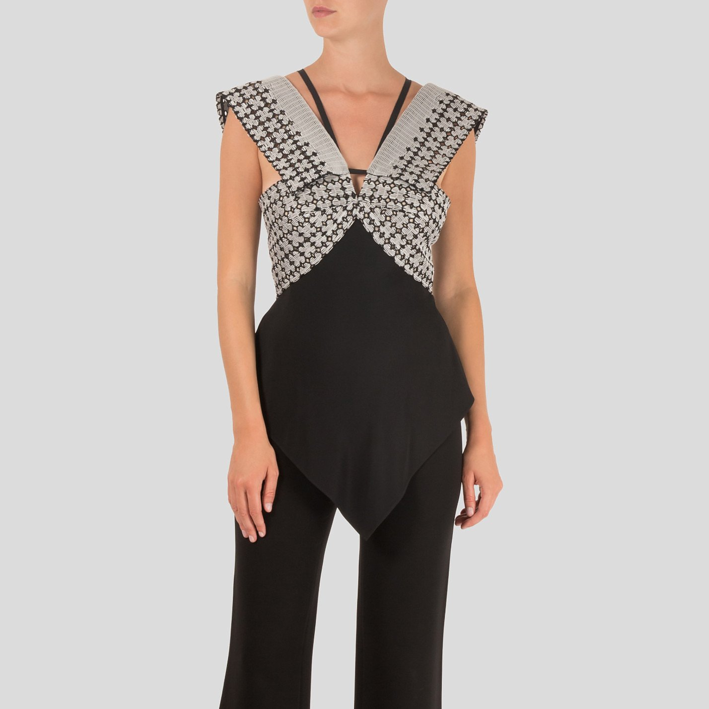 Roland Mouret Contrast Embroidered Top
