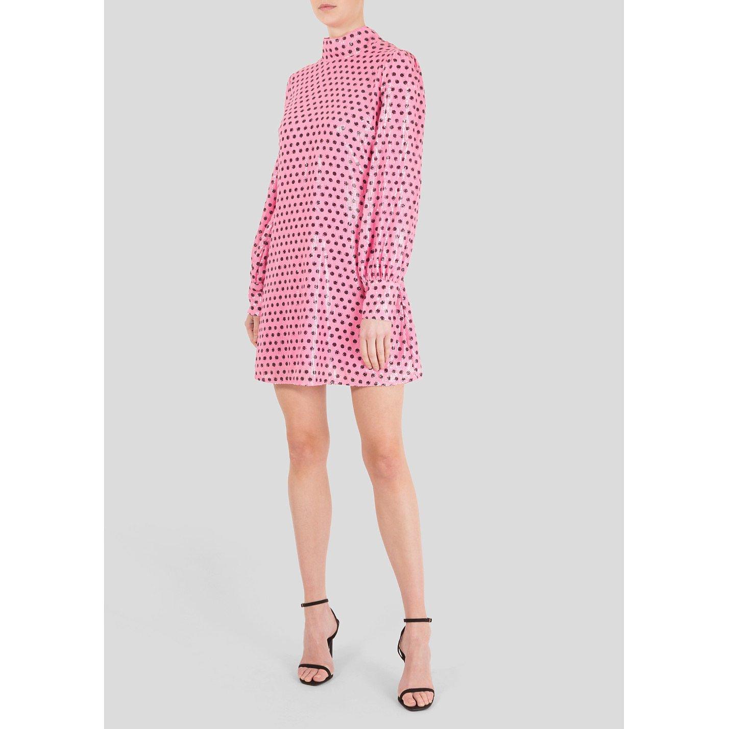Olivia Rubin Sequin Polka Dot Dress