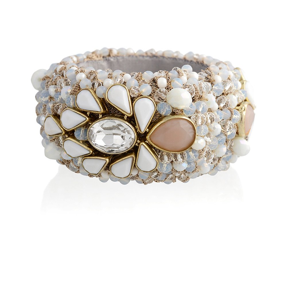 St Erasmus Multicolour Teardrop Crystal Bracelet
