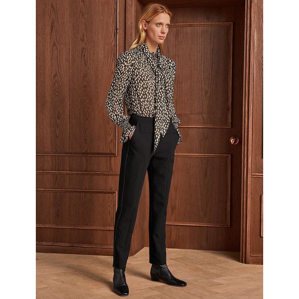 ME+EM Cuff Up Tailored Slim Trousers