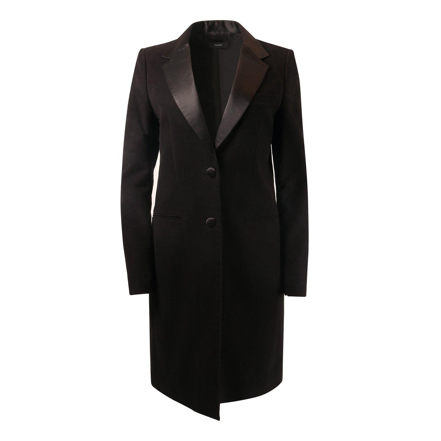Joseph Satin-Trimmed Coat