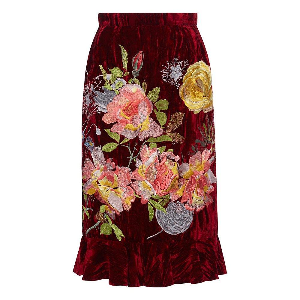 Alice Archer Delia Flounce Pencil Skirt