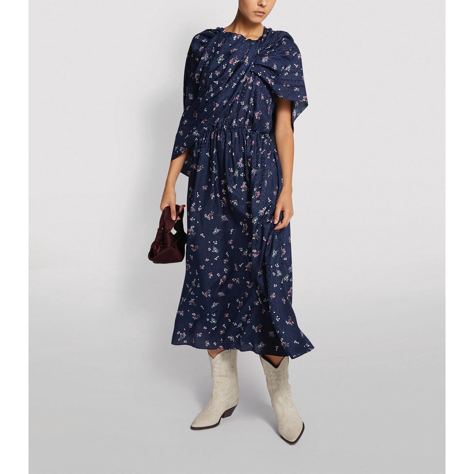 Magda Butrym Getafe Floral Cape Dress
