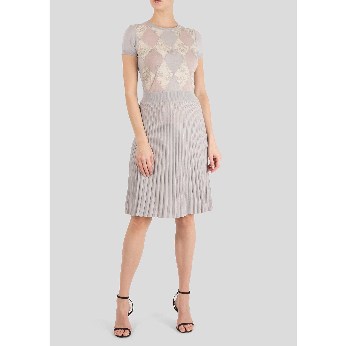 Valentino Argyle Knit Print Dress