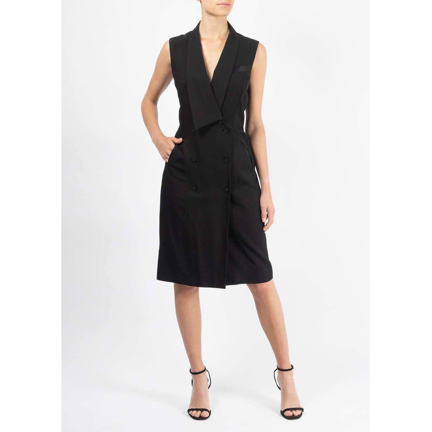 Temperley London Sleeveless Tuxedo Dress