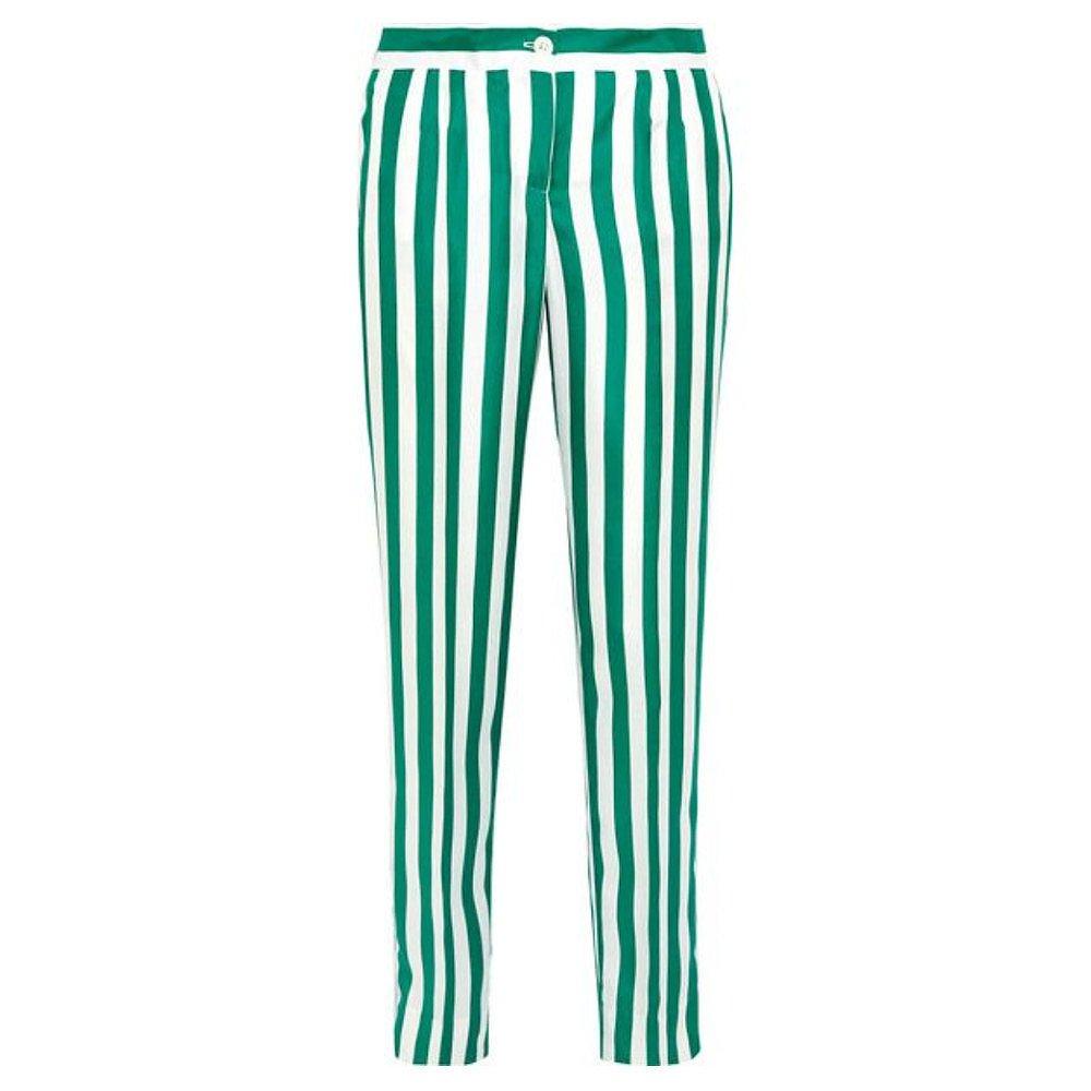 DOLCE & GABBANA Striped Silk-Satin Straight-Leg Trousers