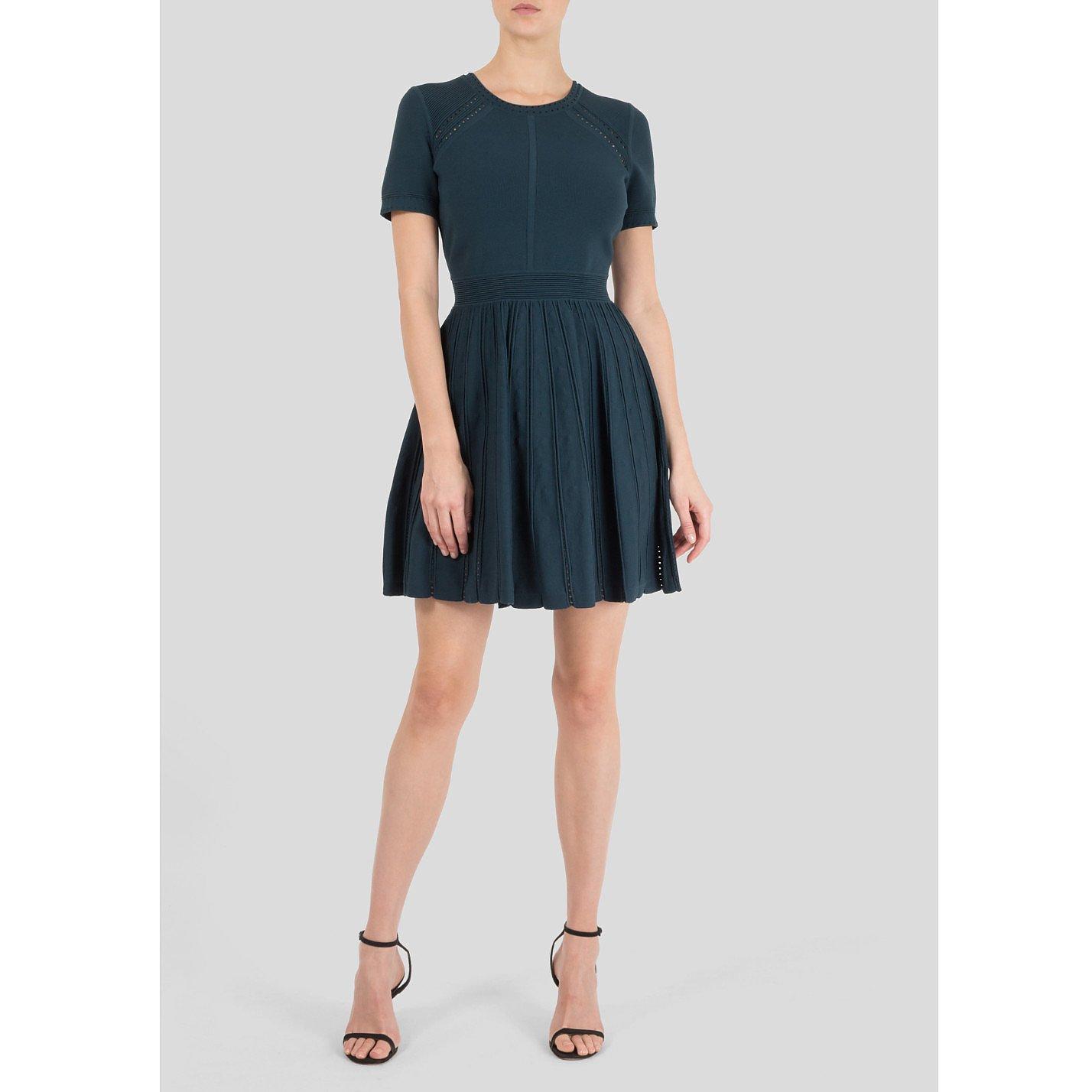 Milly Pointelle Stretch-Knit Mini Dress