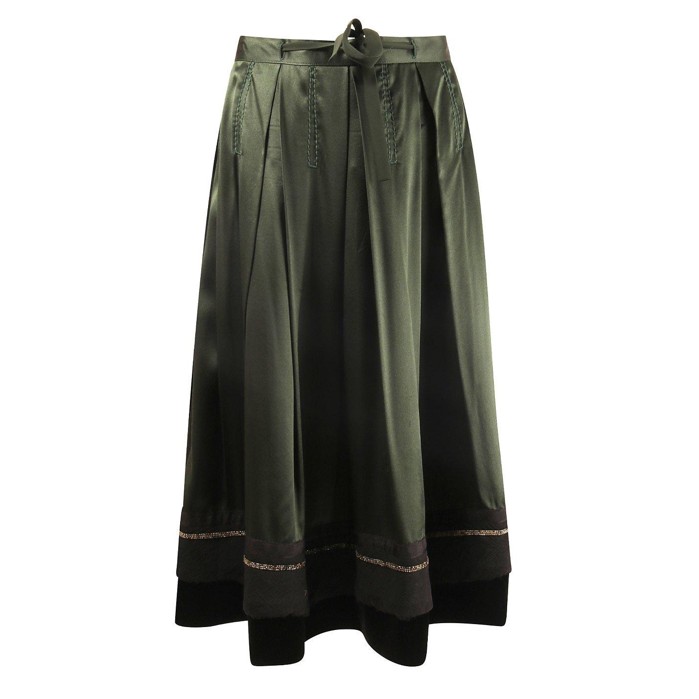 Chloé Embellished Applique Silk Skirt