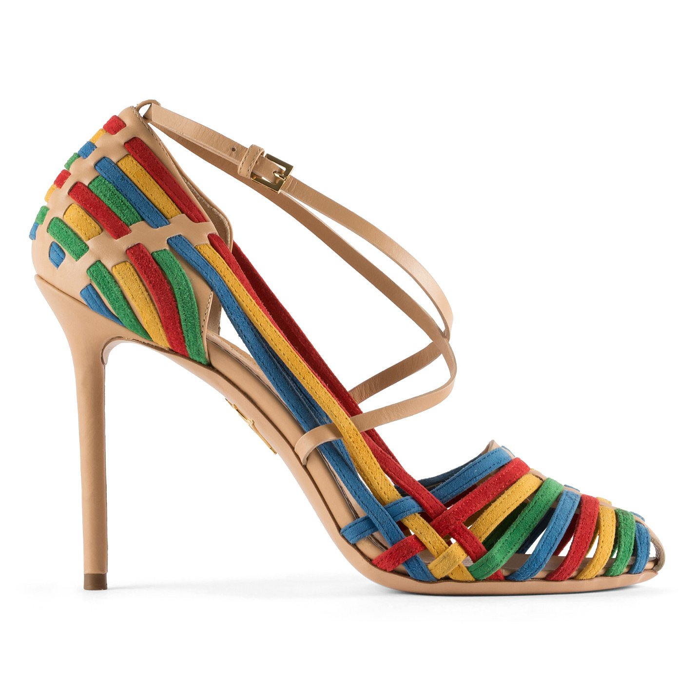 Charlotte Olympia Mariachi Leather & Suede Pumps