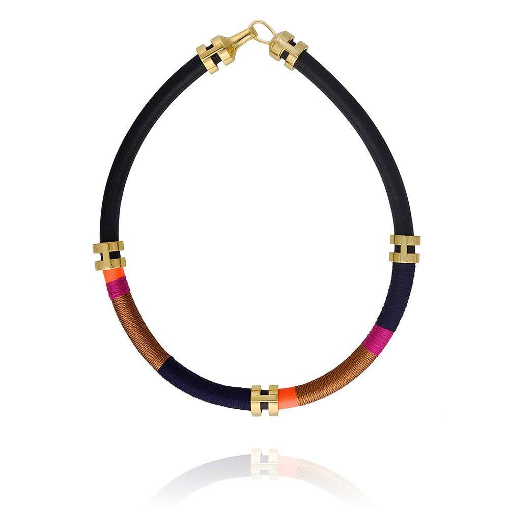 Lizzie Fortunato Double Take Necklace in Black