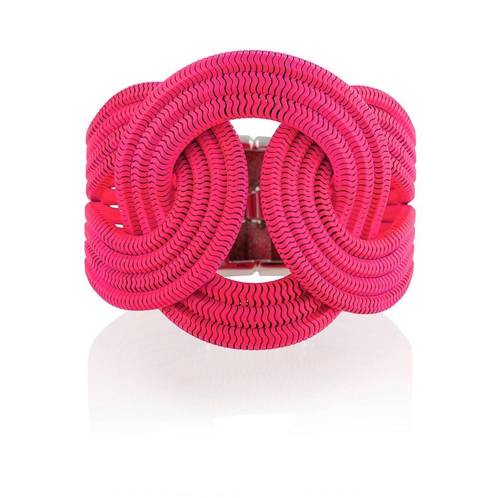 Lara Bohinc Solar Eclipse Bracelet in Neon Pink