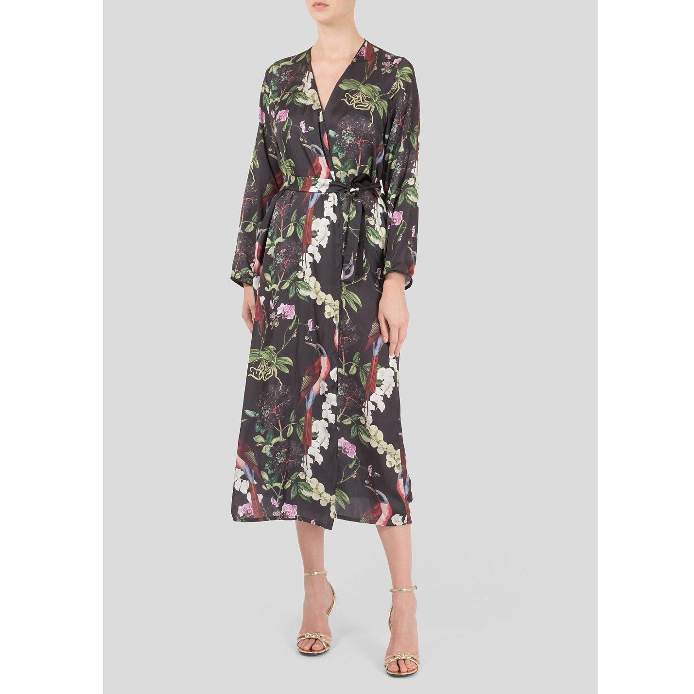The Latin Runway Botanico Print Wrap Dress