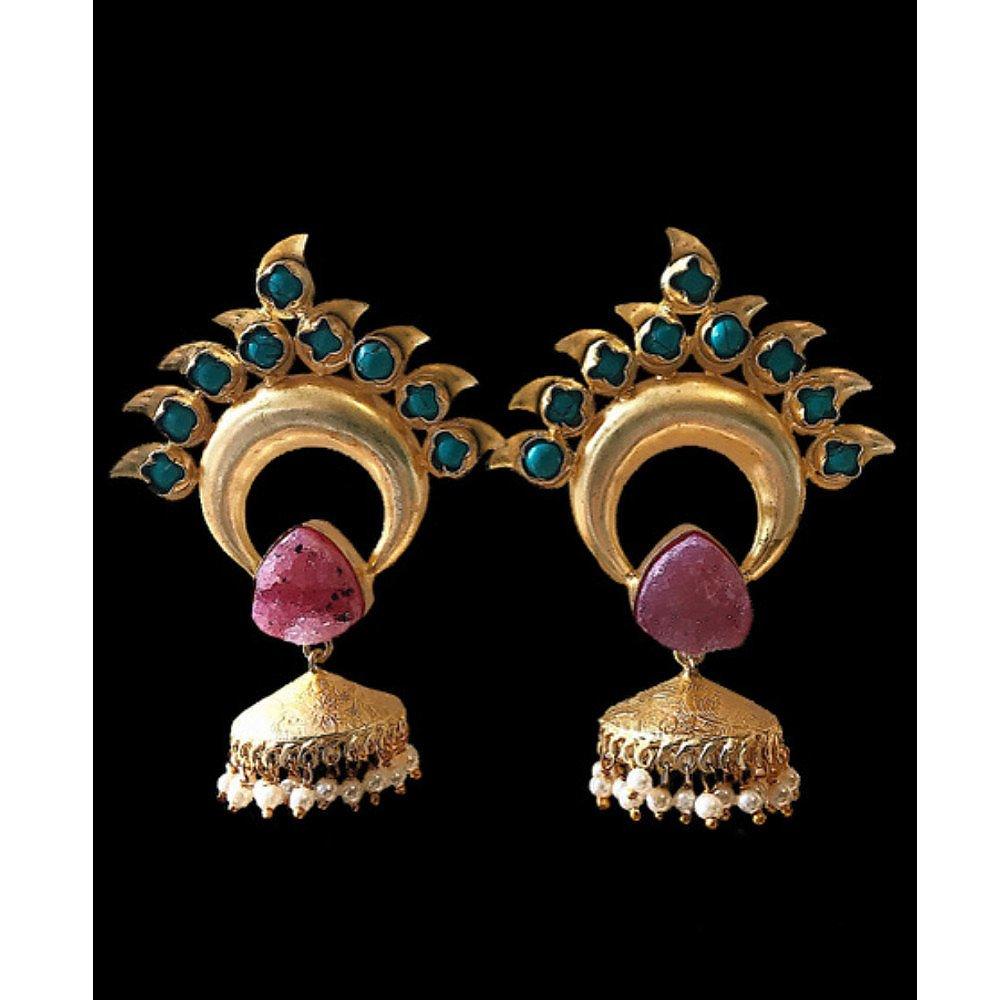 Pink Piglet Paon Rose Earrings