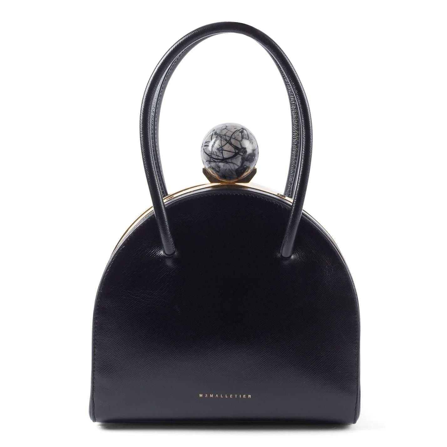 M2MALLETIER Leather Top Handle Bag