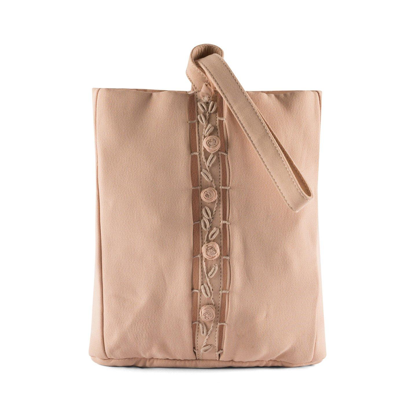 PRADA Rose Embellished Pouch Bag